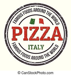 Pizza sign or stamp