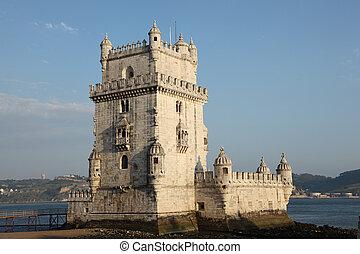 Famous fortressTorre de Belem in Lisbon, Portugal