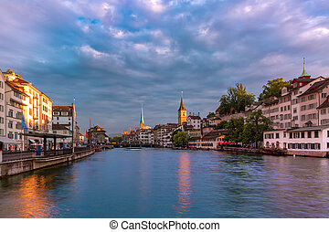 Zurich, the largest city in Switzerland