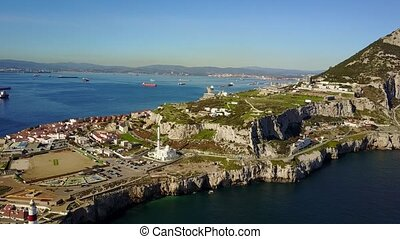 Famous Gibraltar which is oversea British territory, Iberian...
