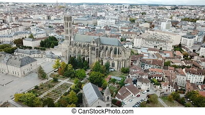Famous gothic cathedral in Limoges city in France, Europe. ...
