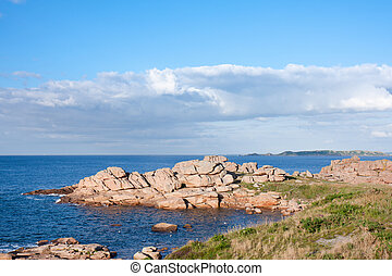 Famous granite rocks in Brittany, France