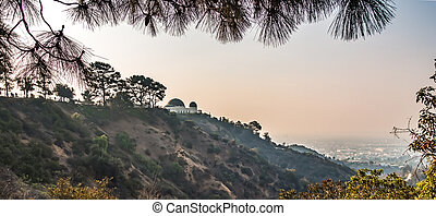 Famous Griffith observatory in Los Angeles california