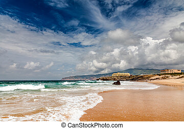 Famous Guincho Beach in Cascais near Lisbon, Portugal