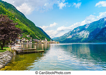 Hallstatt mountain village in the Austria