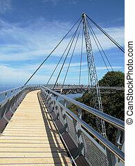Famous hanging bridge of Langkawi island, Malaysia