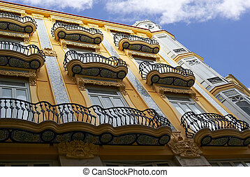 Famous historic building in Valencia, Spain