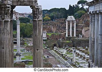 famous historic Forum Romanum in the centre of Rome
