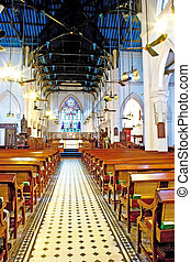 famous historic St. Johns Cathedral in Hong Kong