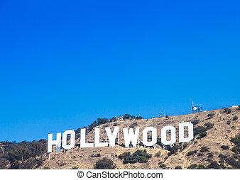 Famous Hollywood landmark in Los Angeles, California