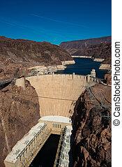 Famous Hoover Dam near Las Vegas, Nevada
