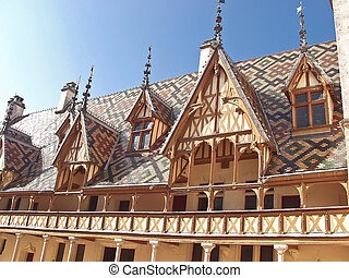 Famous hospice in Beaune. France, Burgundy