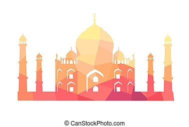 Famous Indian Building of Taj Mahal Illustration