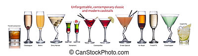 Famous international cocktails - Collection of worldwide ...