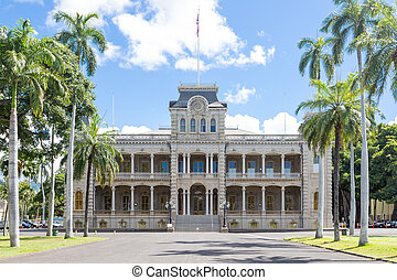 Iolani Palace in downtown Honolulu, Hawaii