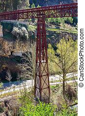 famous iron footbridge in the city of Cuenca, Spain