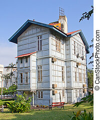 Famous Iron (Steel) house build by Gustave Eiffel in Maputo Mozambique
