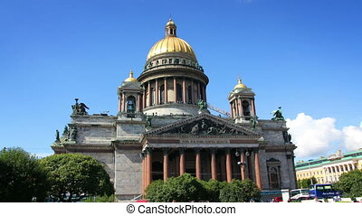famous isaakiy cathedral in St. Petersburg Russia -...