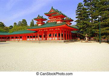 Famous Japanese Orange Temple