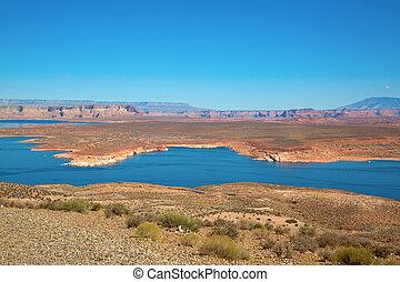 Famous Lake Powell (Glenn canyon) near Page, Arizona