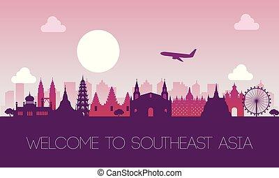 famous landmark of southeast Asia, travel destination, ...