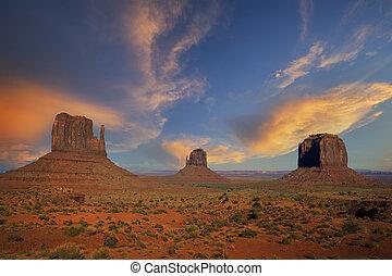 famous landscape of Monument Valley