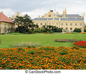 Lednice - Famous Lednice castle in the Southern Moravia,...