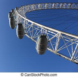 Famous London Eye in London, Great Britain