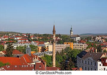 famous minaret landmark Eger Hungary Europe
