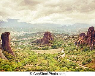 famous  monastery of  Meteora, Greece