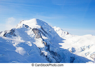 Famous Mont Blanc, The highest peak of Europe