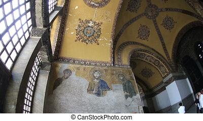 Famous Monument Hagia Sophia - Tourist Visiting Historic...