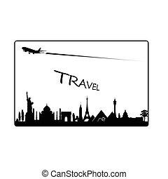 famous monument travel paradise illustration