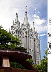 Famous Mormon Temple in Salt Lake C