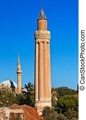 Famous Mosque in Antalya Turkey