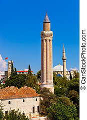 Famous Mosque in Antalya, Turkey