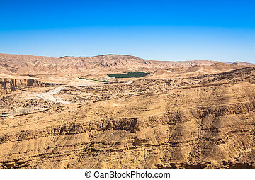 Famous Mountain oasis Chebika in Tunisia, Northern Africa