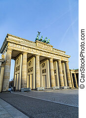 Brandenburg gate of Berlin, Germany - famous old Brandenburg...