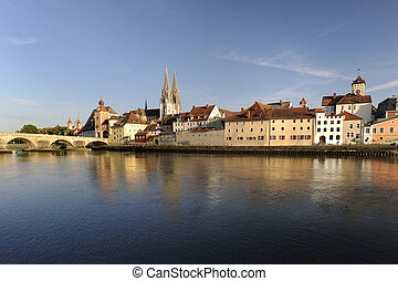 old town regensburg in germany