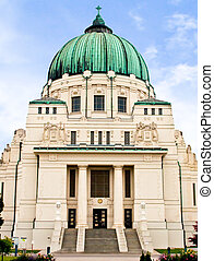Famous Otto Wagner Art Nouveau / Jugendstilkirche on the...