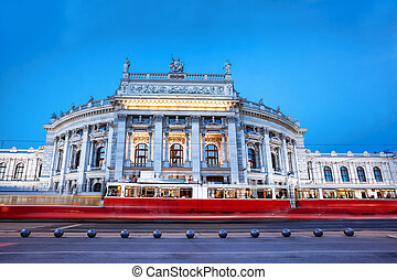 Famous palace Burgtheater in Vienna, Austria