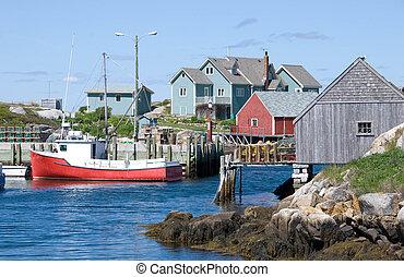 A view of Peggy's Cove in Nova Scotia, Canada