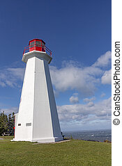 famous Peggys point lighthouse in Nova Scotia