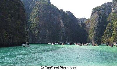 Famous Phi Phi island - Panoramic view of famous Phi Phi...