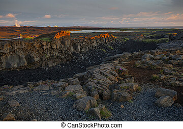 Famous place between continents, Iceland