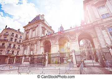 Famous Place des Terreaux in Lyon, France - Famous Place des...