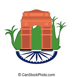 Famous place in india. India Gate- Vector