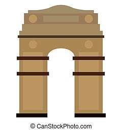 Famous place in india. India Gate - Vector