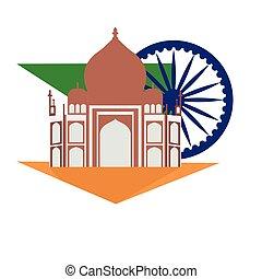Famous place in india. Taj Mahal - Vector