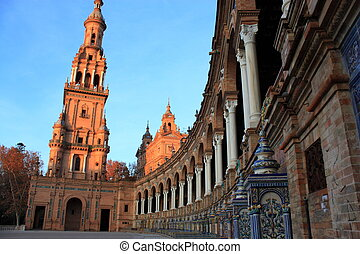 Plaza de Espana in Seville, Spain.